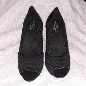 Dexflex Comfort Woven Open Toe Pumps Shoes 11
